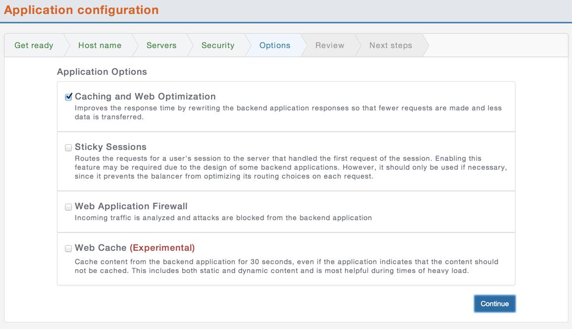 CloudMaestro Application Options