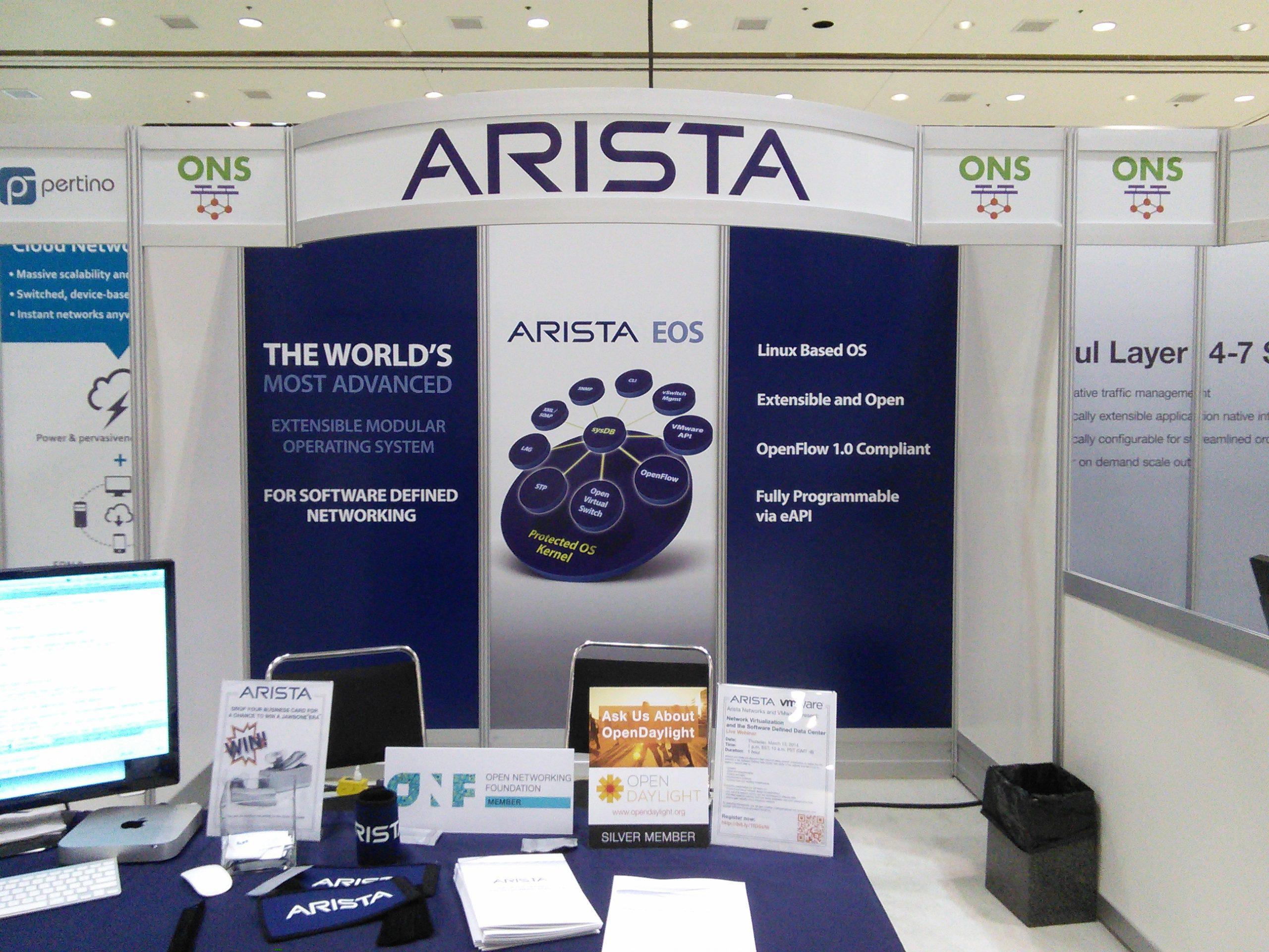 Arista at ONS 2014
