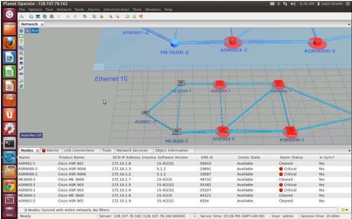 Cyan Blue Planet SDN Planet Operate Multi-Layer Network Visualization