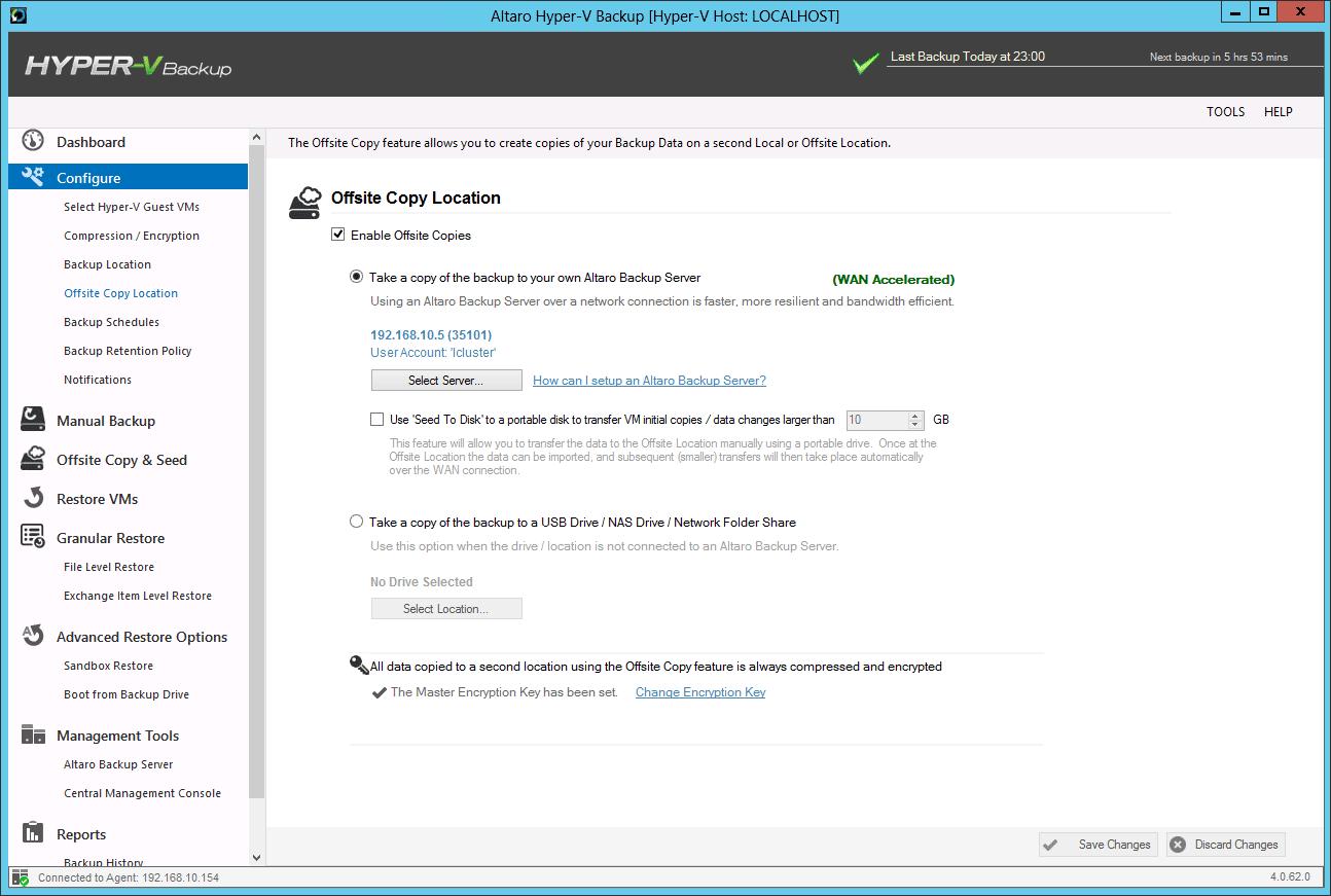 Altaro Hyper-V Backup Offsite VM Backups