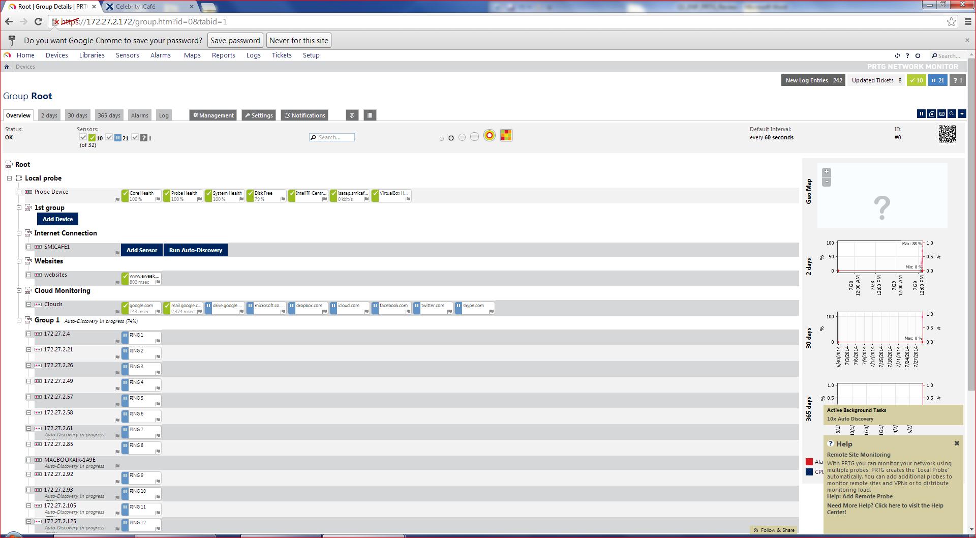 Paessler PRTG Network Monitor v14 Auto Discovery