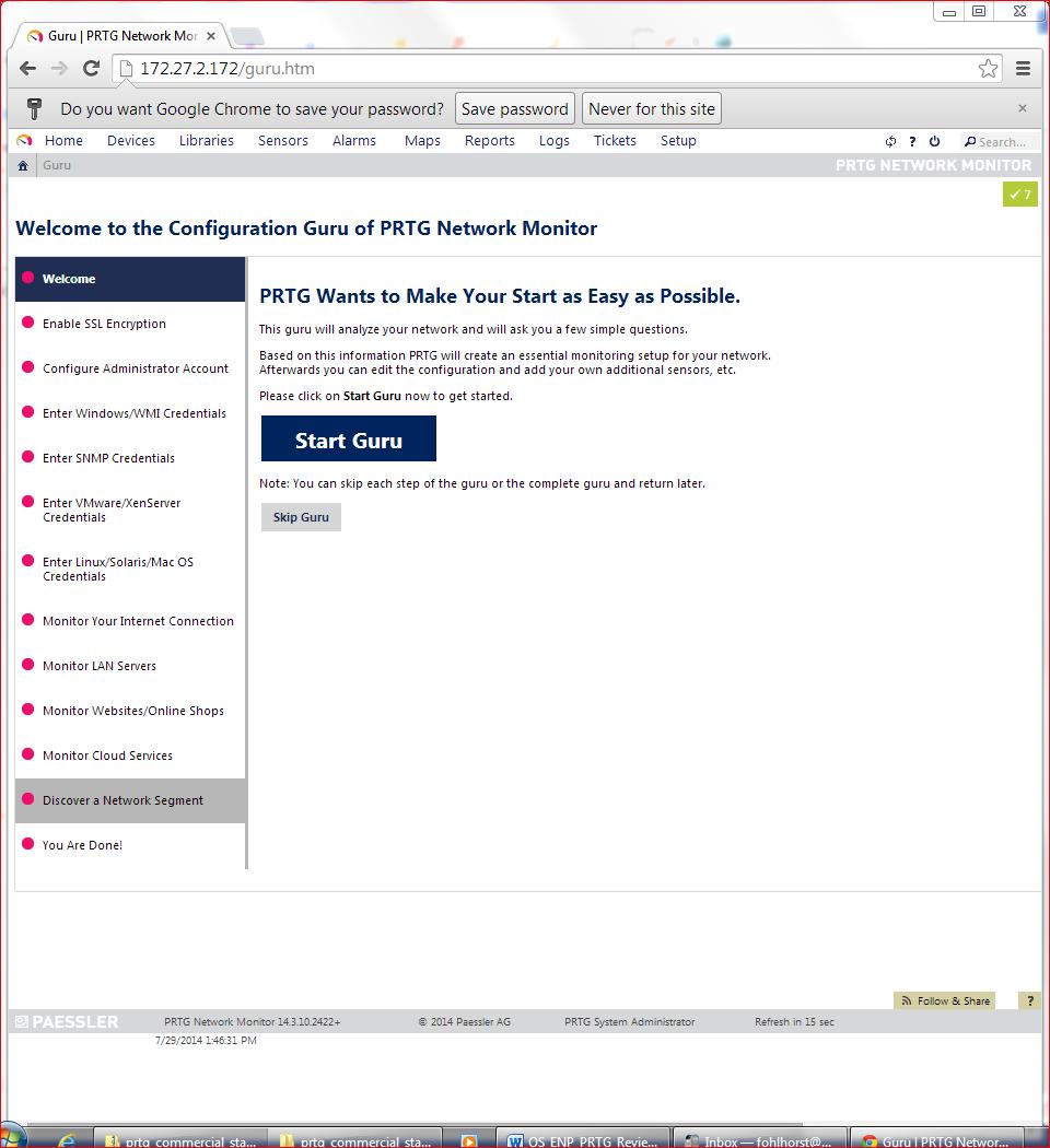 Paessler PRTG Network Monitor v14 Guru Setup