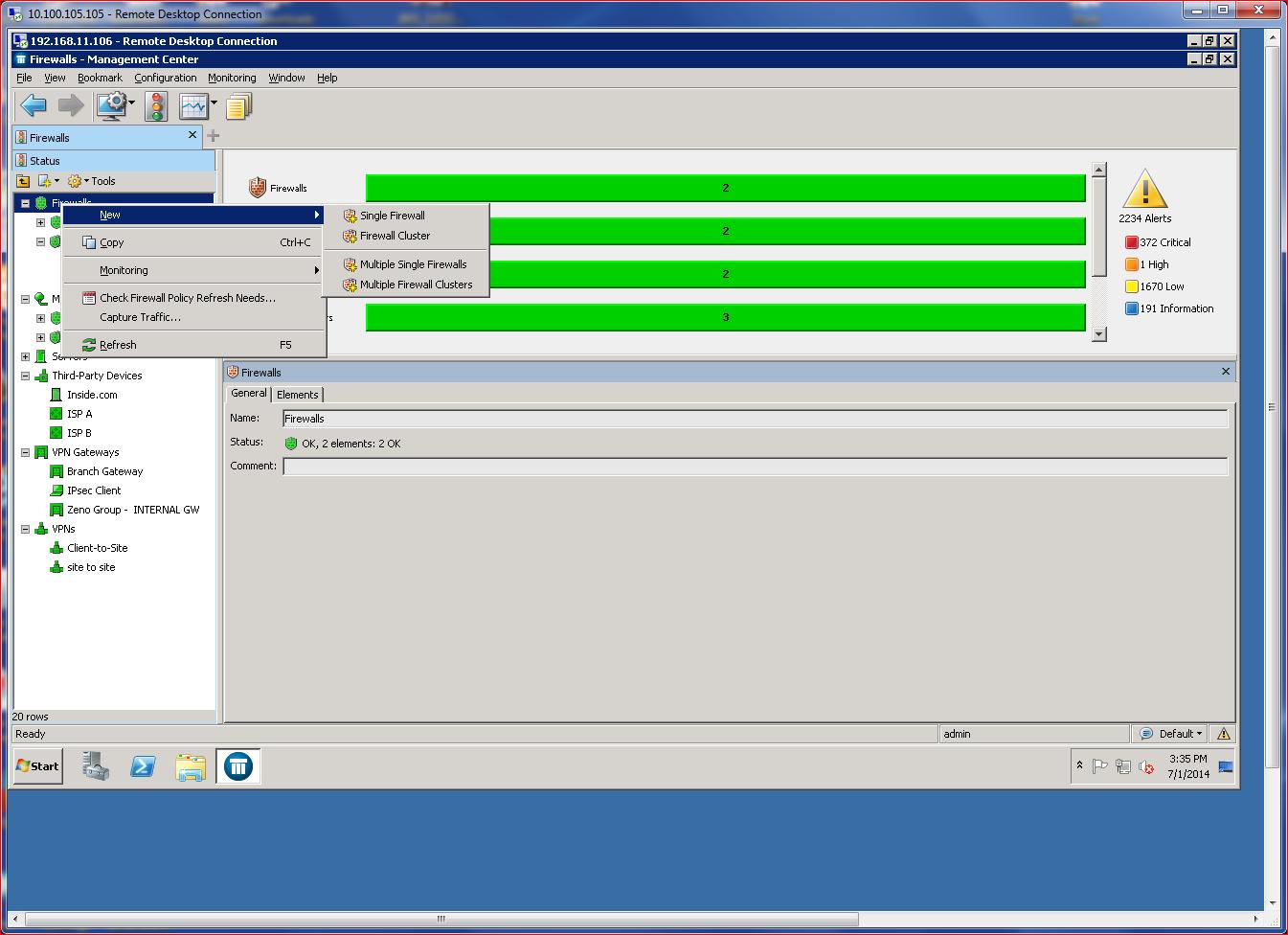 McAfee NGFW SMC - Add Firewall