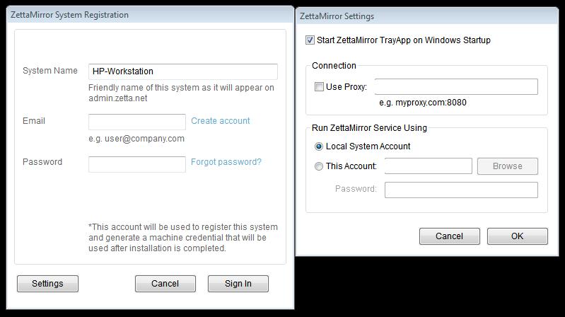Zetta DataProtect Cloud Backup Client