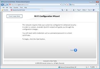 Avenda Quick1X Wi-Fi Configuration Wizard